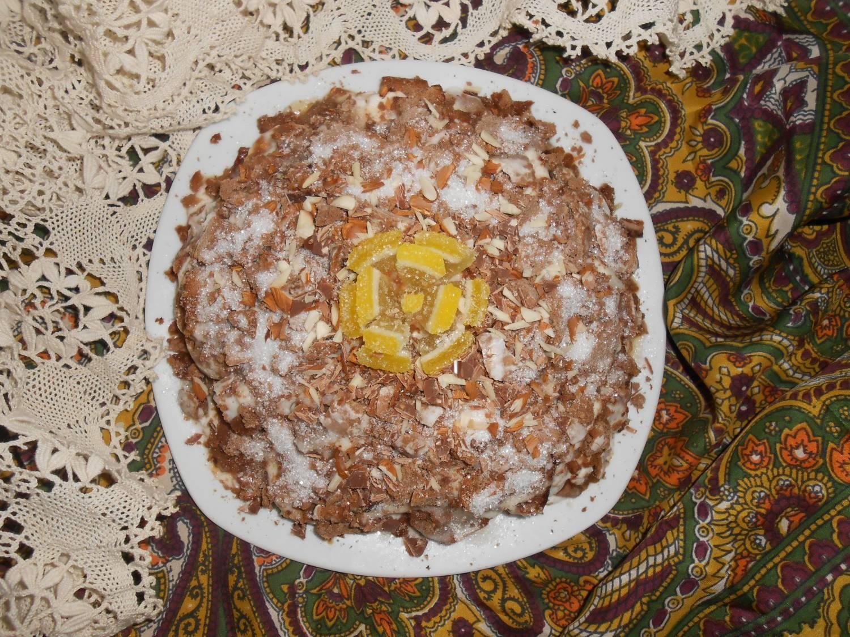 Пряничный торт с ананасами без выпечки рецепт